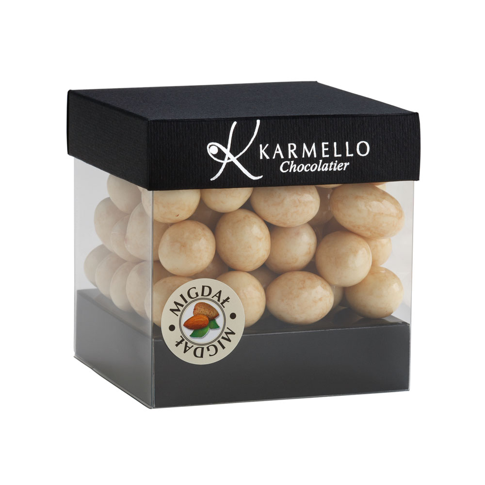 WHITE CHOCOLATE-COVERED ALMONDS - Karmello -