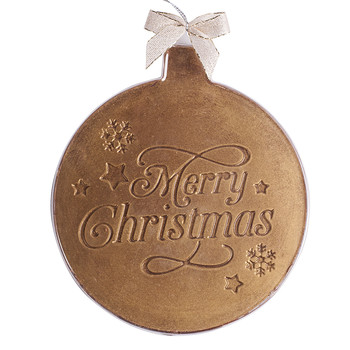 Gold Christmas Bauble Milk Chocolate