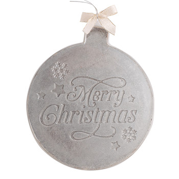 Silver Christmas Bauble Dark Chocolate