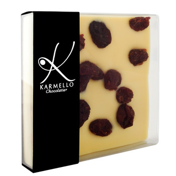 WHITE CHOCOLATE WITH CRANBERRIES