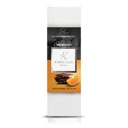 DARK CHOCOLATE WITH CANDIED ORANGE PEEL