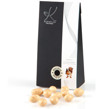 WHITE CHOCOLATE-COVERED ALMONDS - BAG