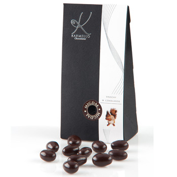 DARK CHOCOLATE-COVERED ALMONDS - BAG